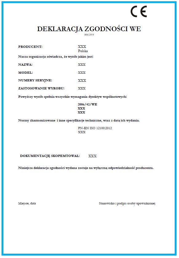 Deklaracja zgodności CE